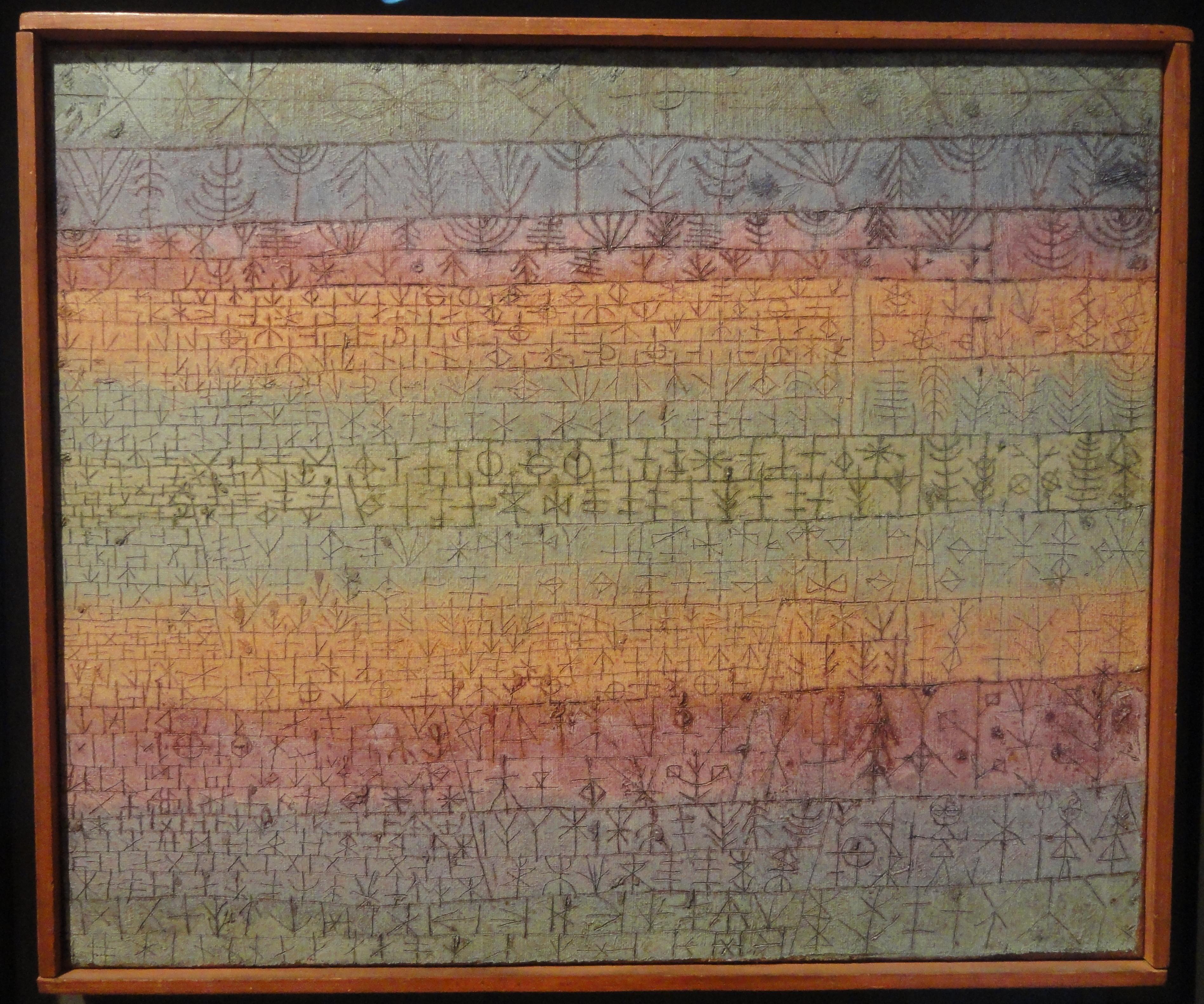File Tree Nursery Paul Klee 1929 Oil On Incised Gesso Canvas