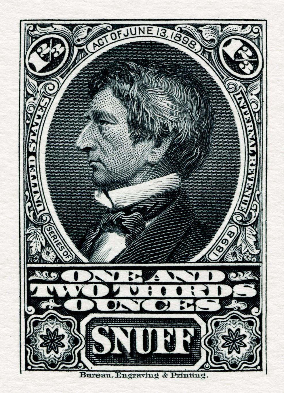 FileUS Stamp Internal Revenue 1898 Snuff 166 Oz Proof