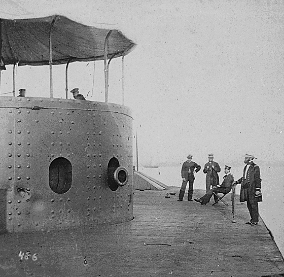 USS Monitor after Battle of Hampton Roads