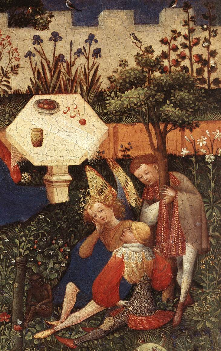 File:Upper Rhenish Master - The Garden of Eden (detail) - WGA23764 ...