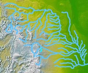 Chugwater Creek stream in Wyoming, United States of America