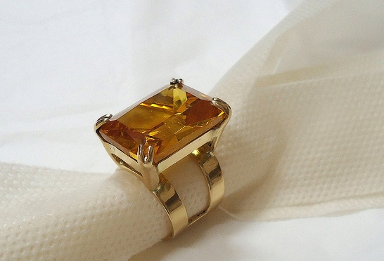 Yellow topaz ring 2