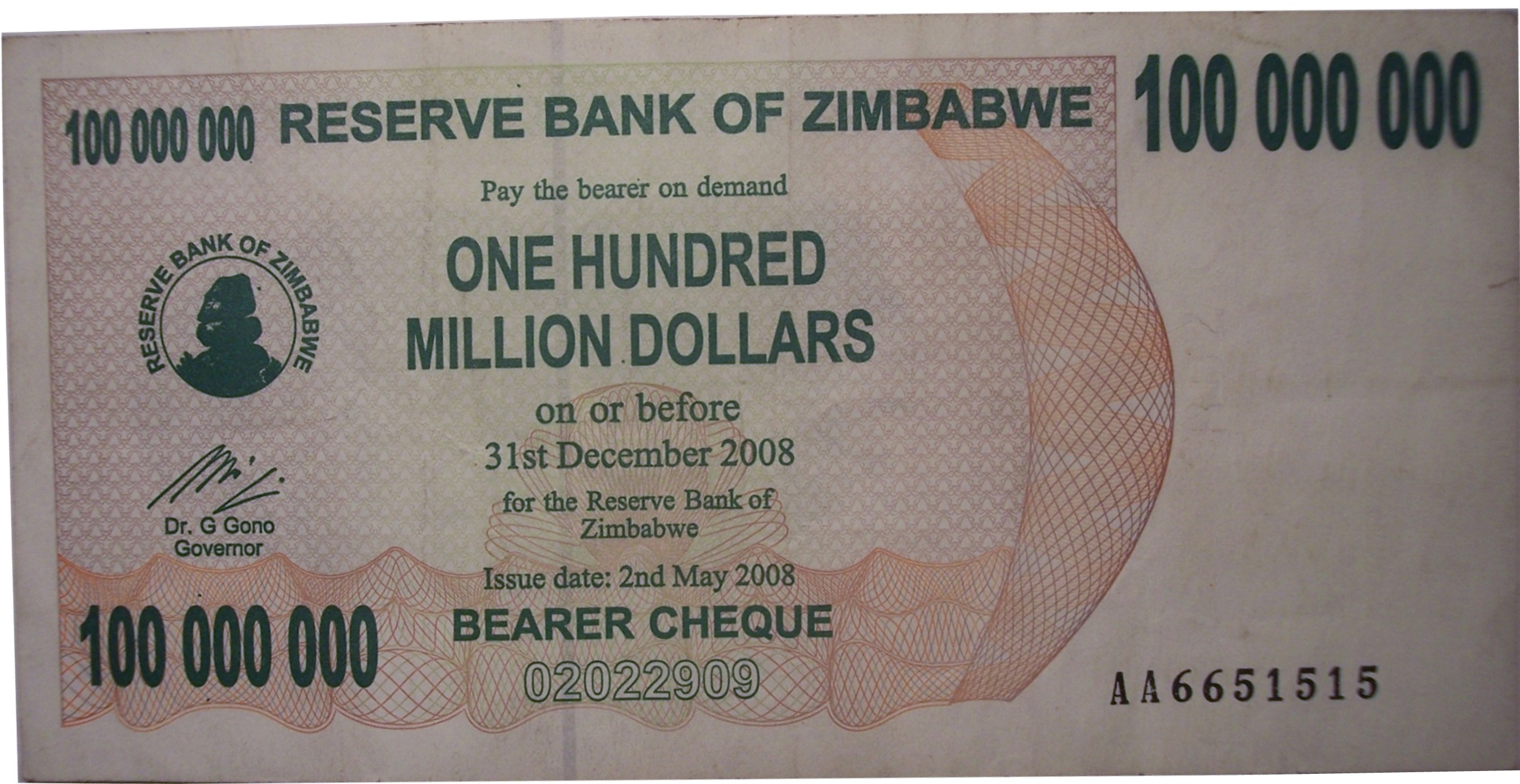 File Zimbabwean 100 Million Dollar Note Jpg