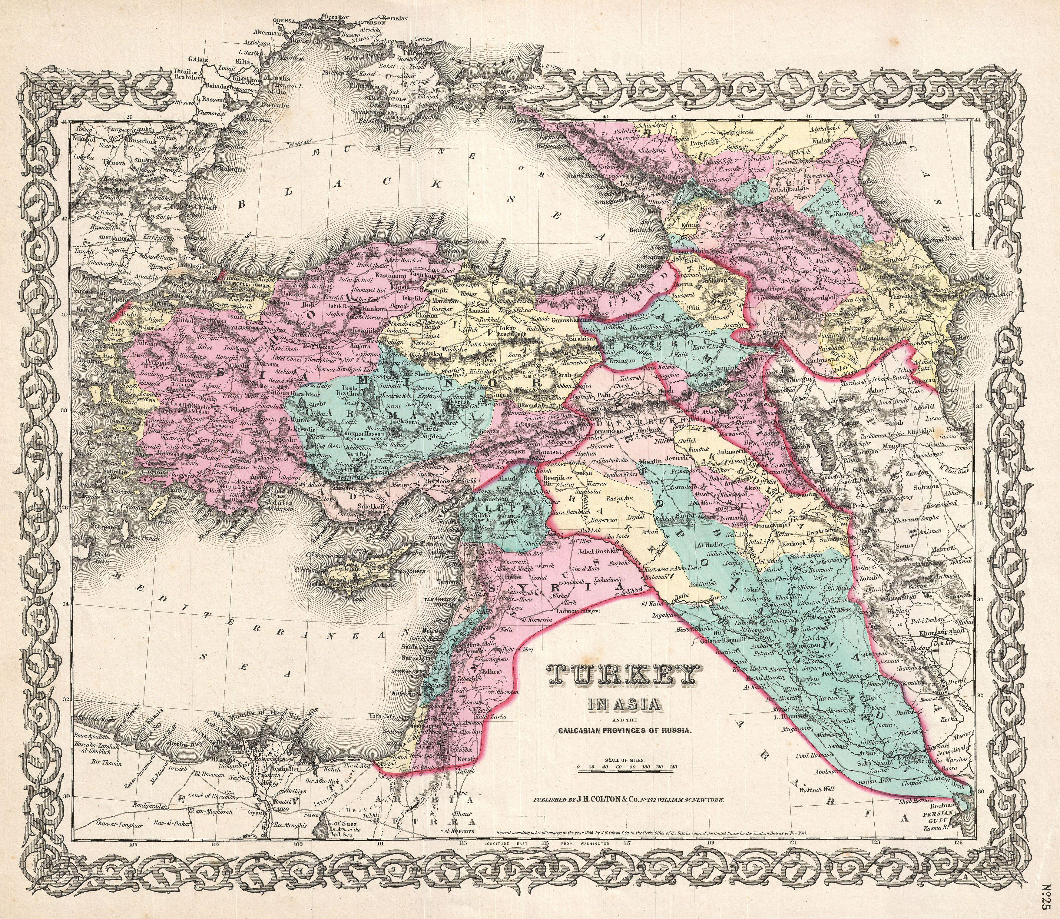 File:1855 Colton Map of Turkey, Iraq, and Syria ...