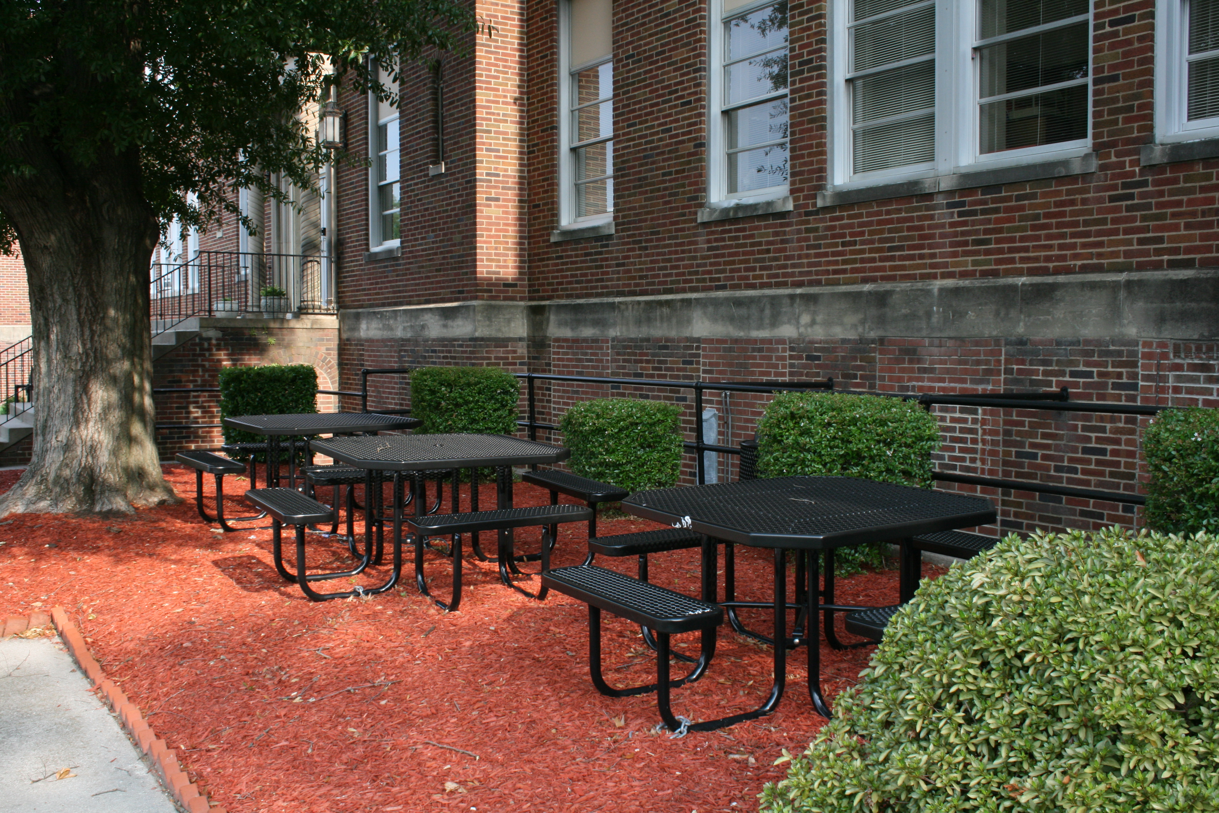 File Picnic Tables At Durham Public Schools Central - Office picnic table