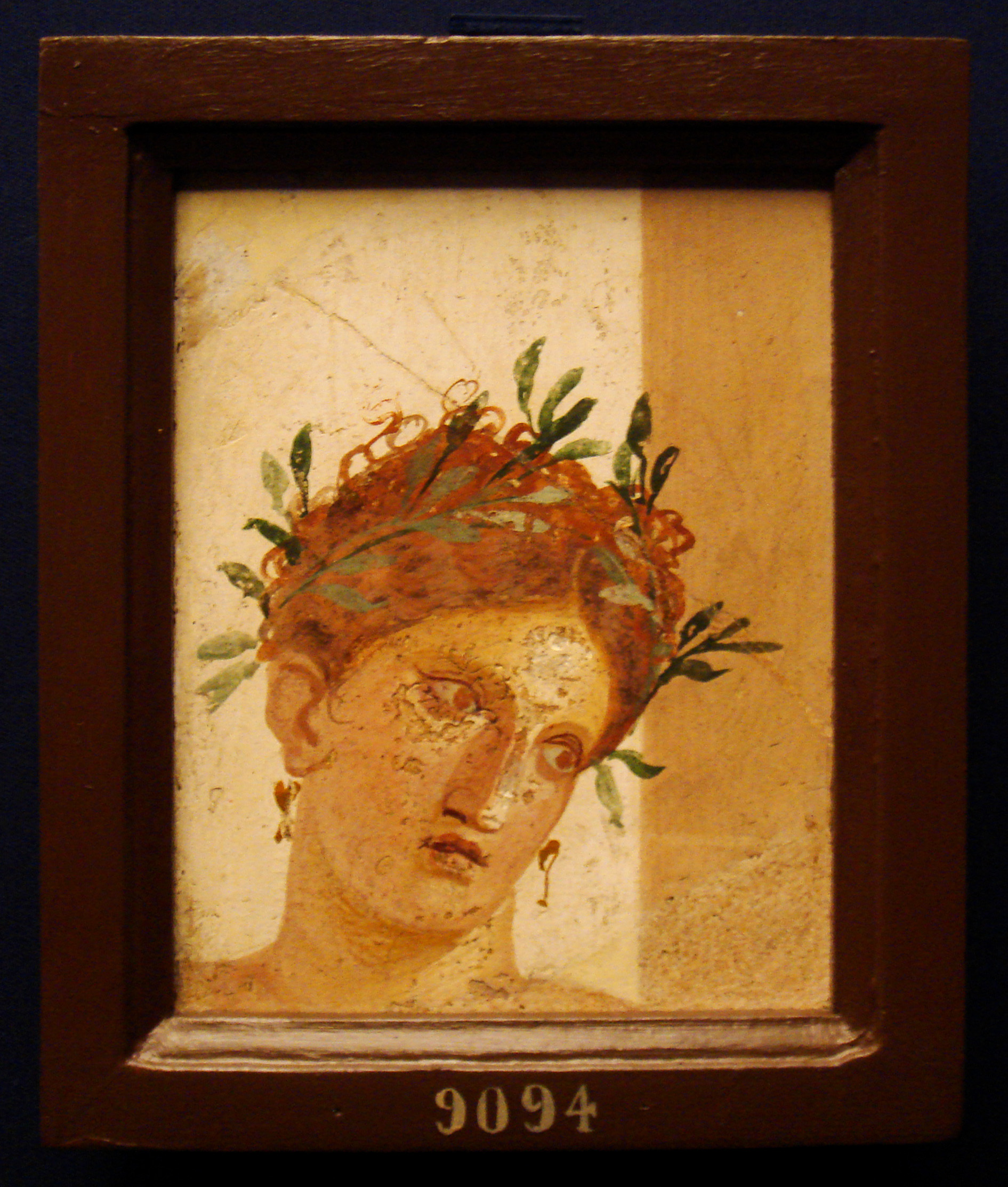 young girl   ancient roman fresco  20 10  b c   from herculaneum