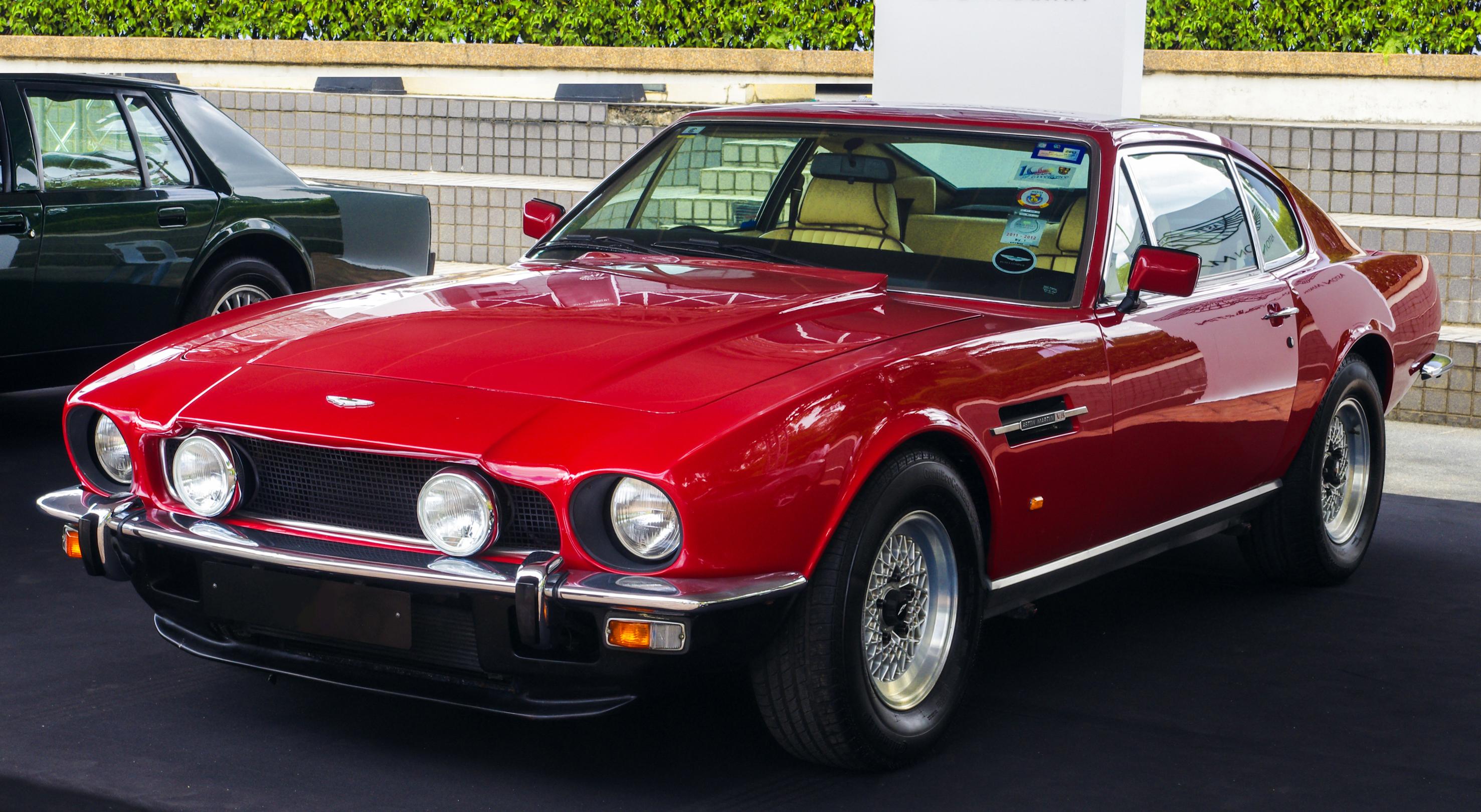 File Aston Martin V8 Series 5 Saloon Red Front Left Selangor Jpg Wikimedia Commons