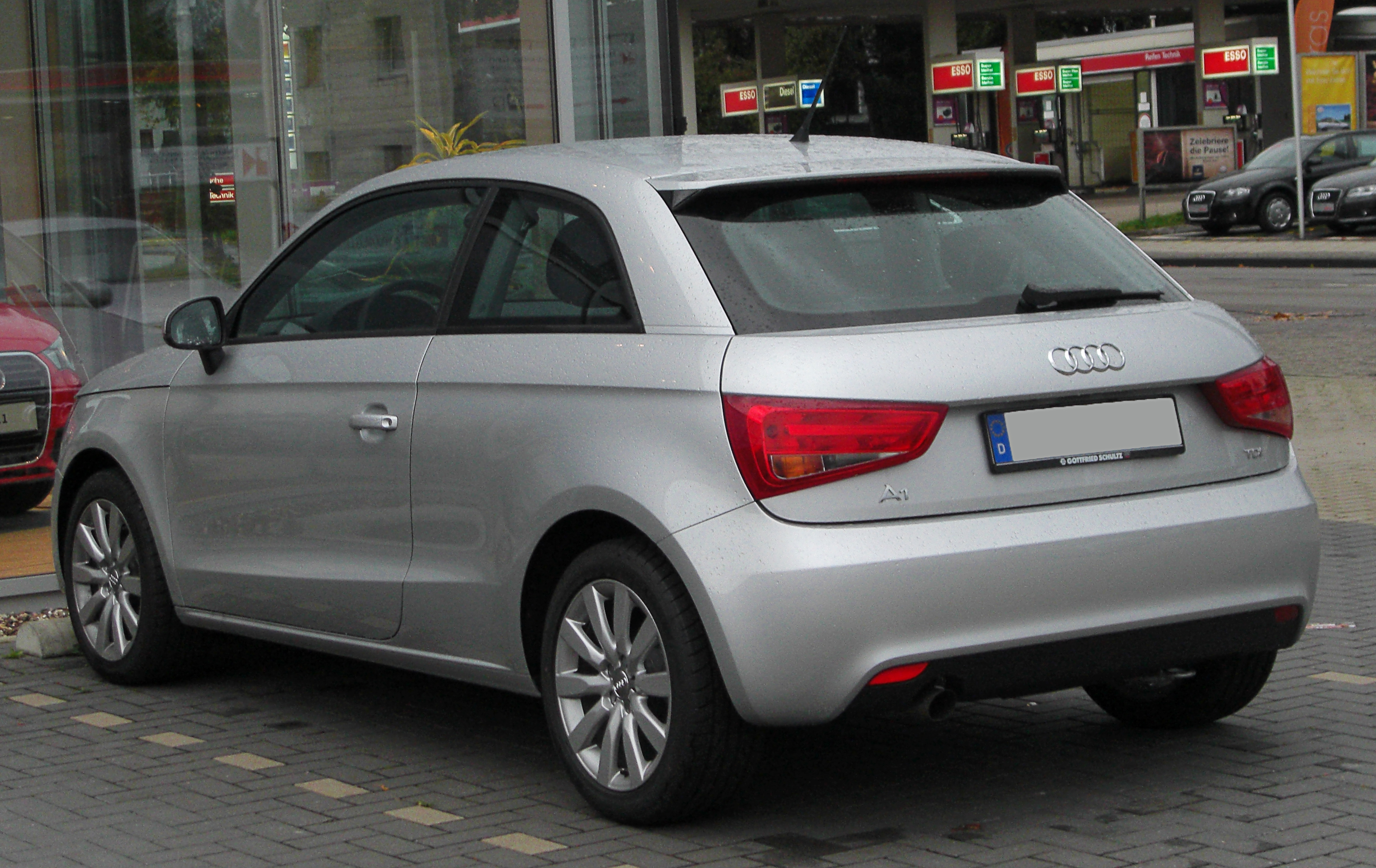 file audi a1 1 6 tdi ambition rear. Black Bedroom Furniture Sets. Home Design Ideas