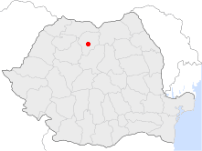 Location of Bistriţa