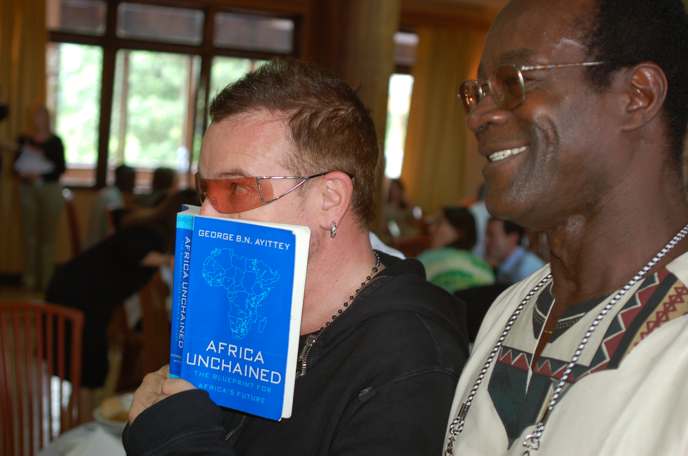 Bono with George Ayittey