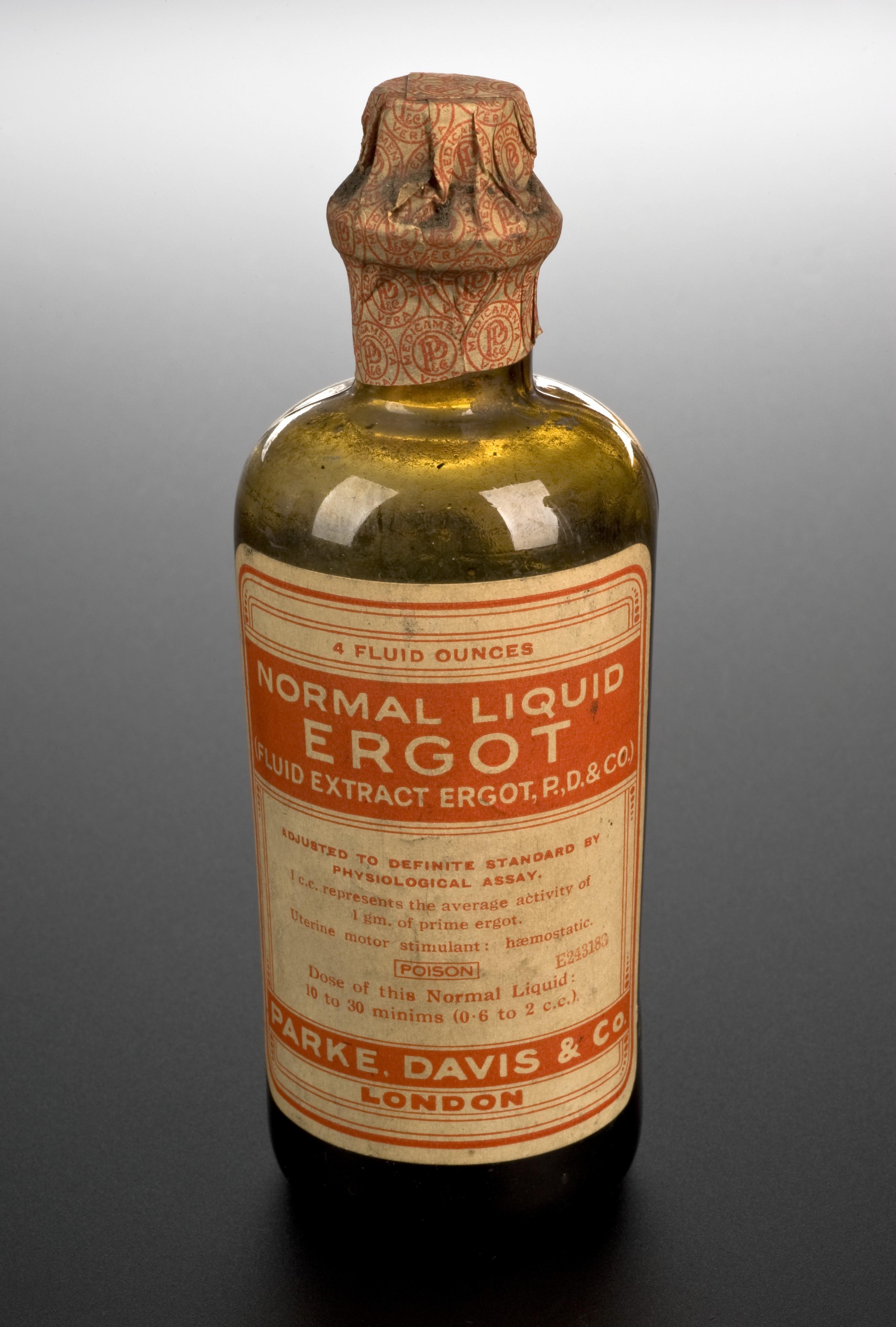 File bottle of ergot extract london england 1891 1950 for Uses for old glass bottles