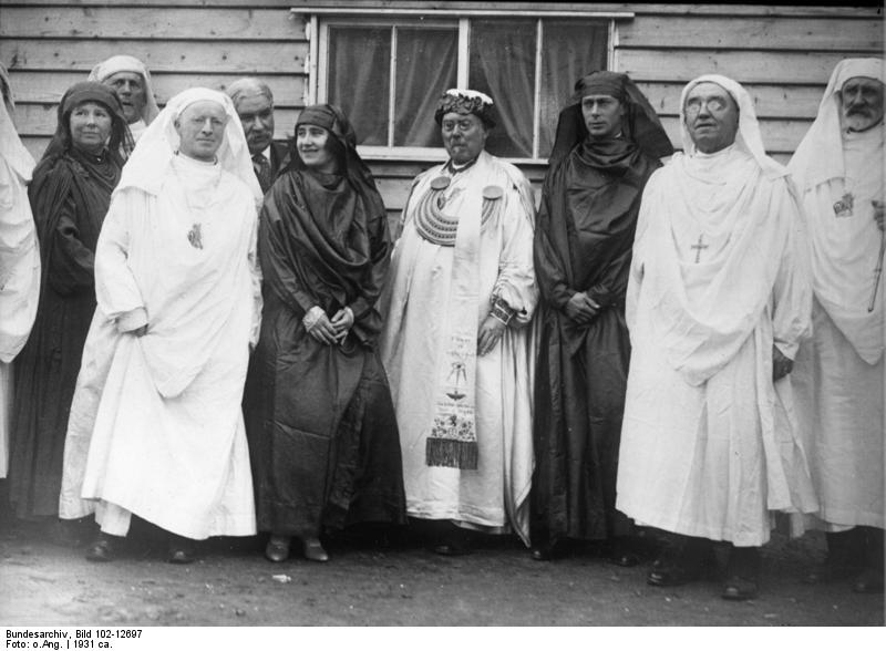 Welsh bards in robes
