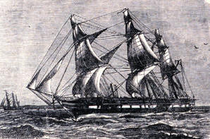 HMS Challenger in 1874
