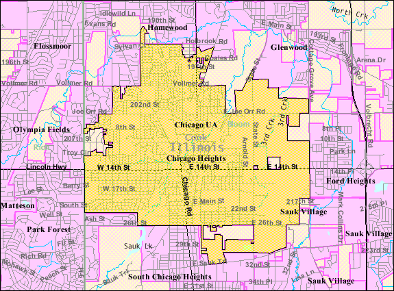 Filechicago Heights Il 2009 Reference Map Wikimedia Mons: Map Of Chicago Heights Illinois At Usa Maps