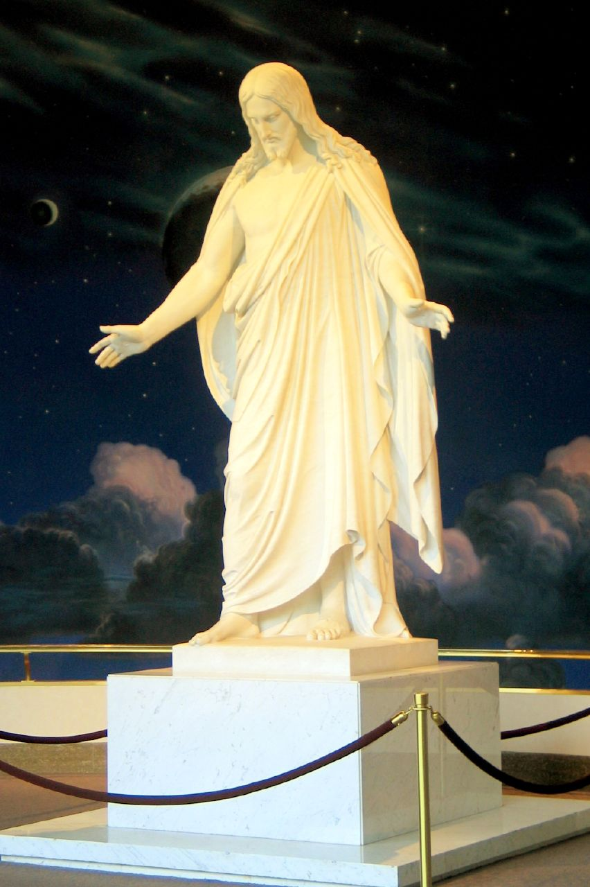Christus statue in Salt Lake City