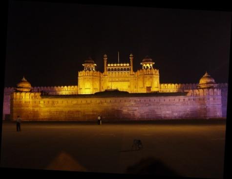 File:Delhi red fort night.jpg