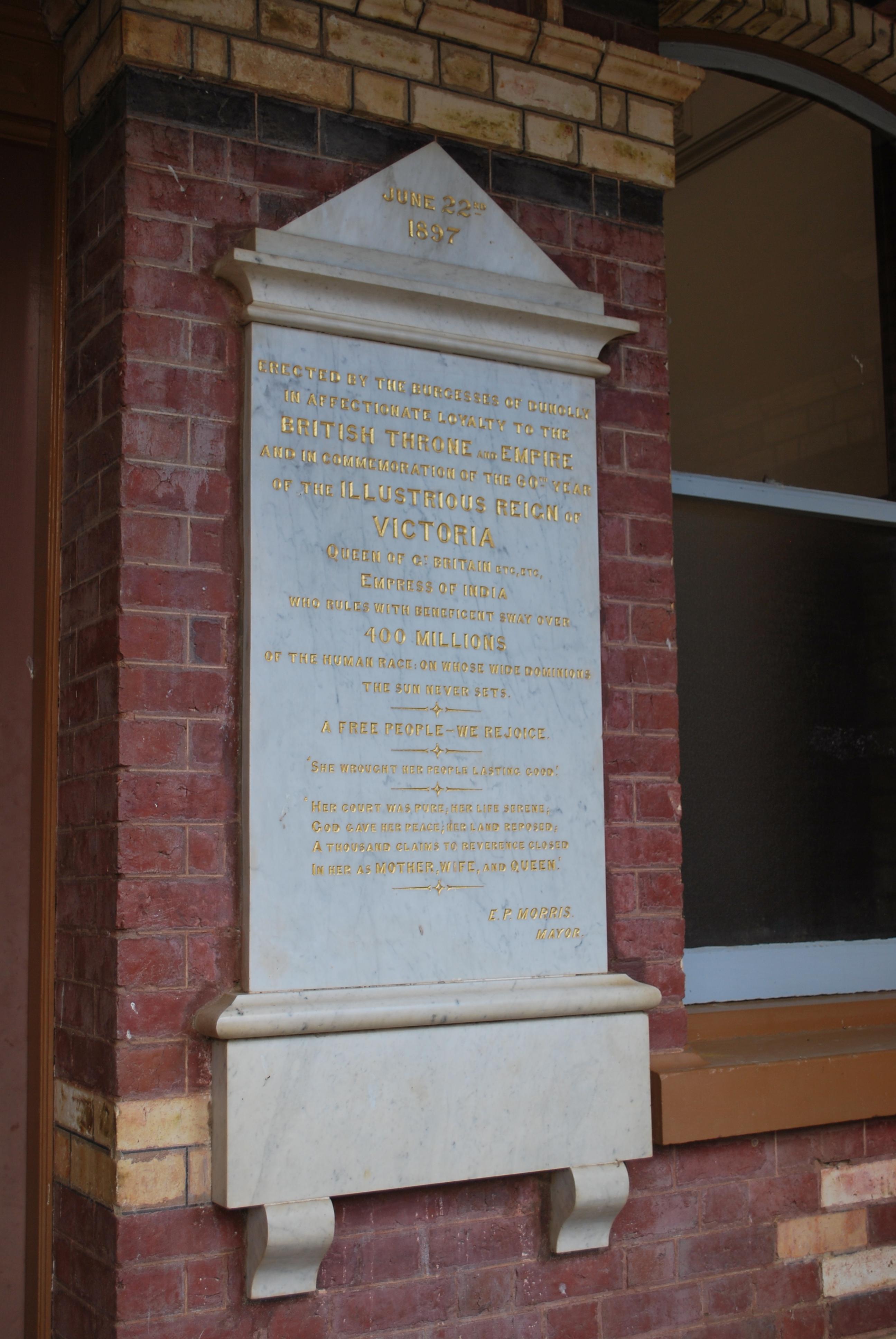 File:Dunolly Queen Victoria Memorial Stone JPG - Wikimedia
