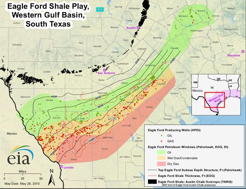 Eagle Ford Group Wikipedia - Us shale gas map