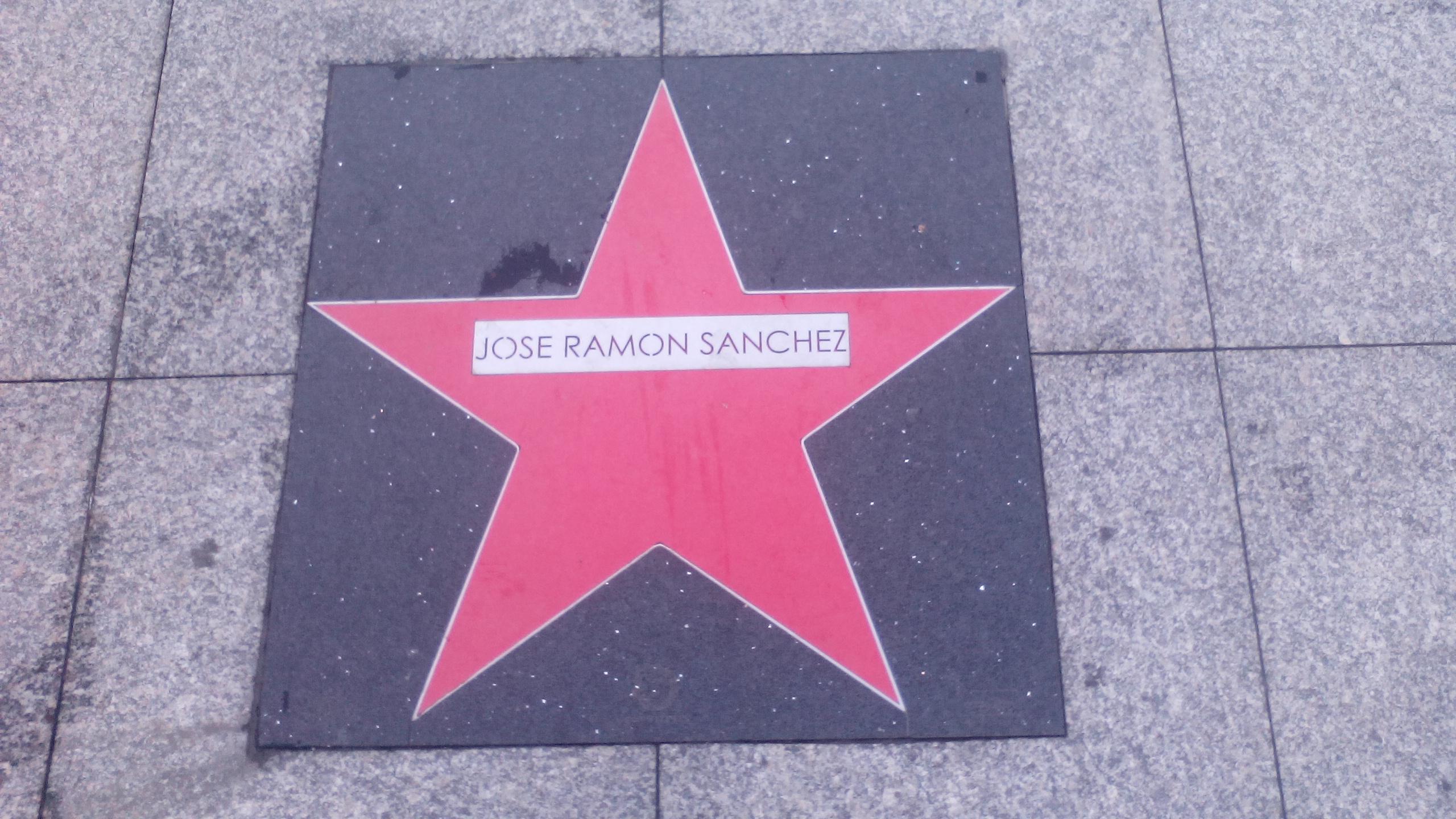Estrella de José Ramón Sánchez en el [[paseo de la fama de Tetuán