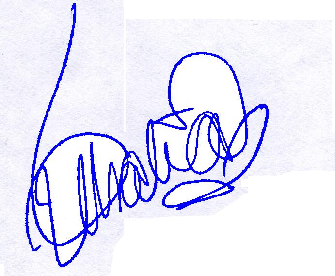Thalía signature