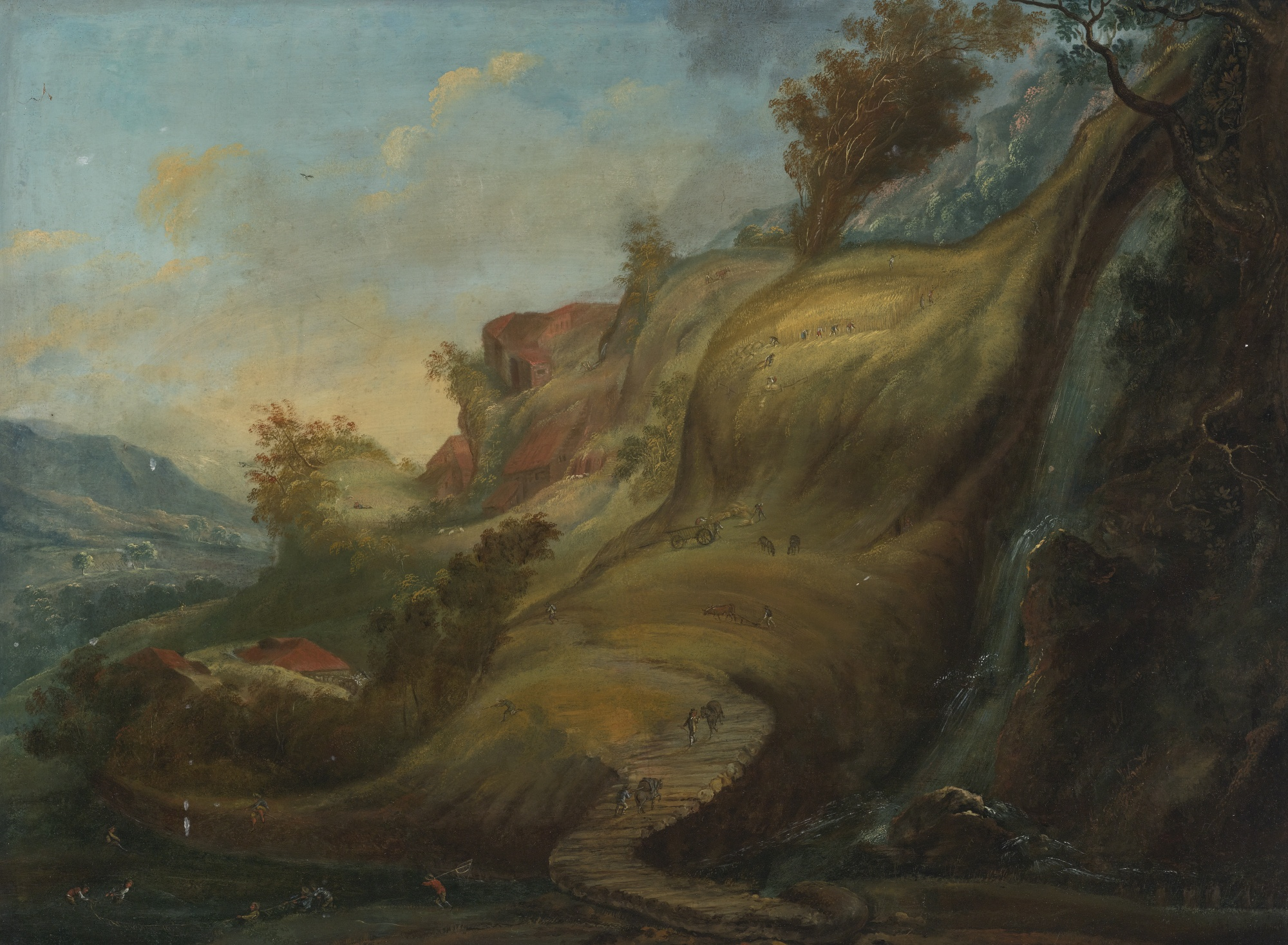 File:Flemish School, Early 17th Century A Hilly Landscape ...