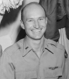 Halvorsen in uniform while at an air force base in Germany