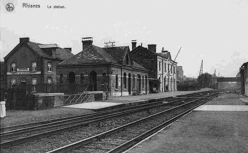La gare de Rhisnes au début des années 1900.