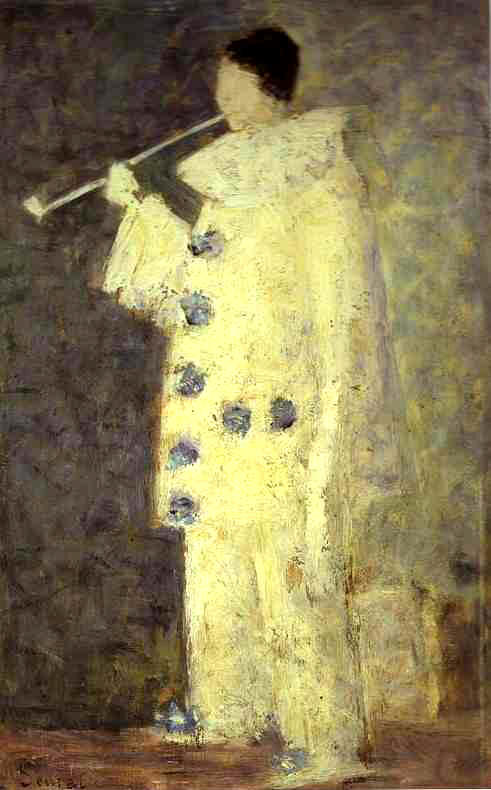 02/03 Que fumez vous ce lundi? Georges_Seurat_-_Pierrot_with_a_White_Pipe_PC_100