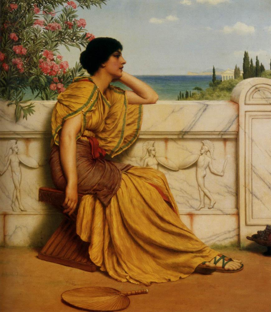 ◦˚ღ ســـجل حضــورك بــلوحه فنية ღ˚◦ Godward-Leisure_Hours-1905