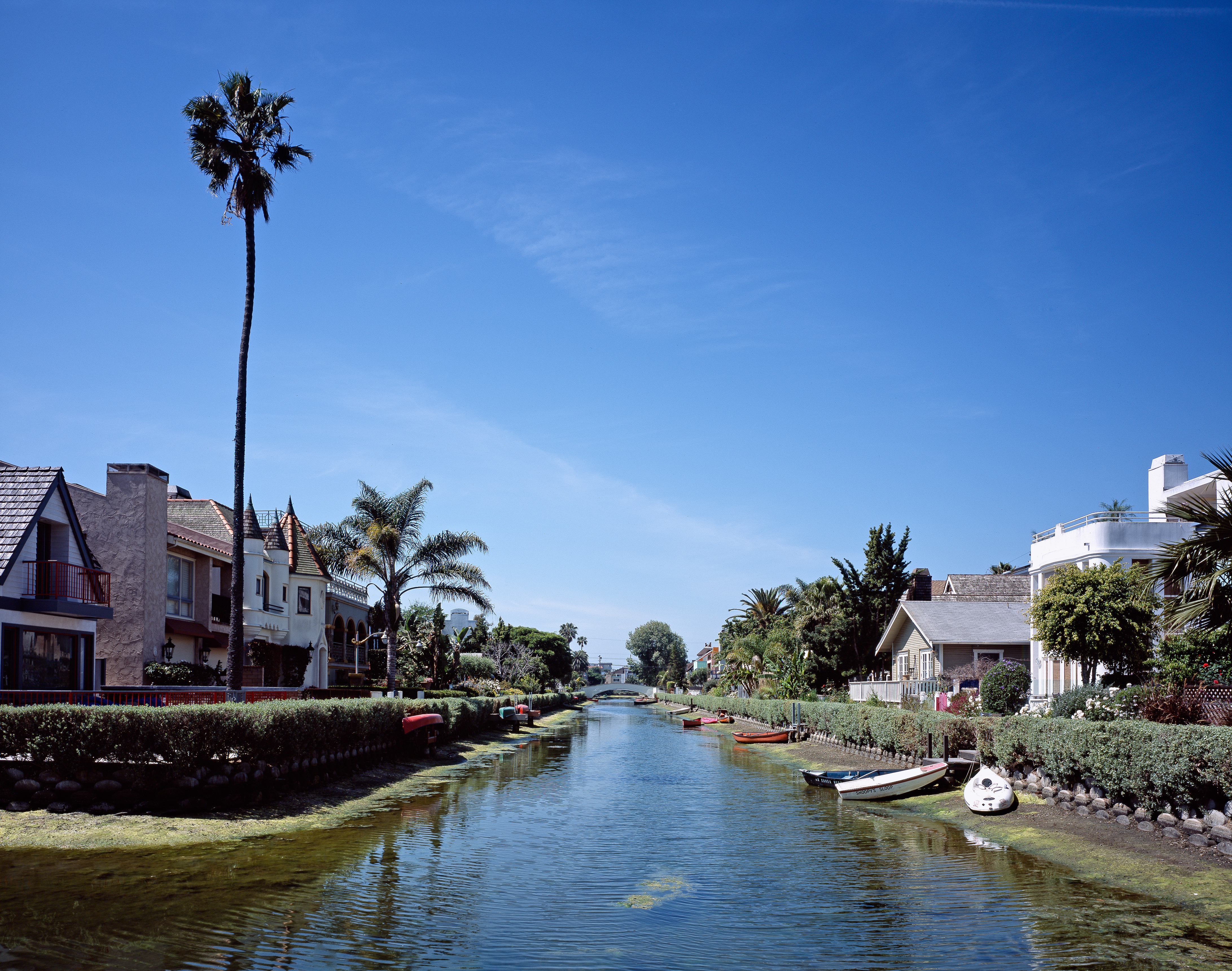 The canals were modeled after those in Italy's Venice