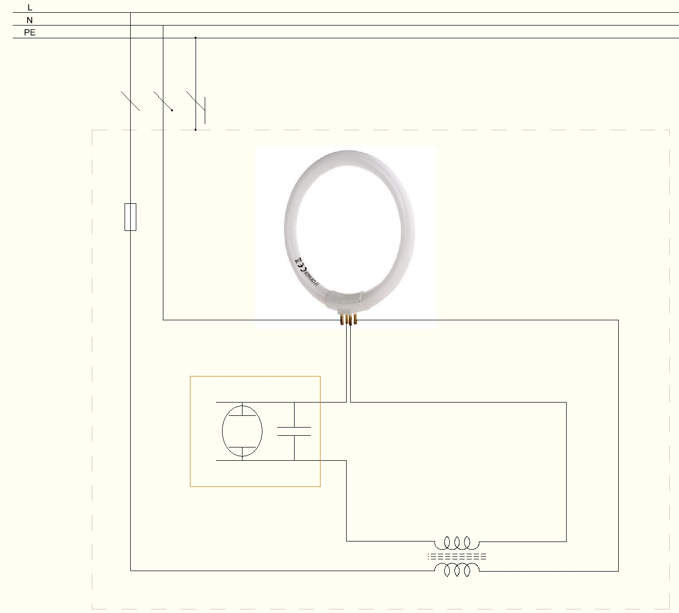File:How to wire circular fluorescent lamp.JPG