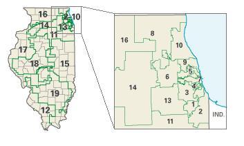 Illinois: Congressional Constituencies