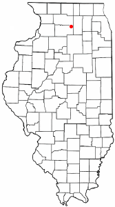 Location of Steward, Illinois