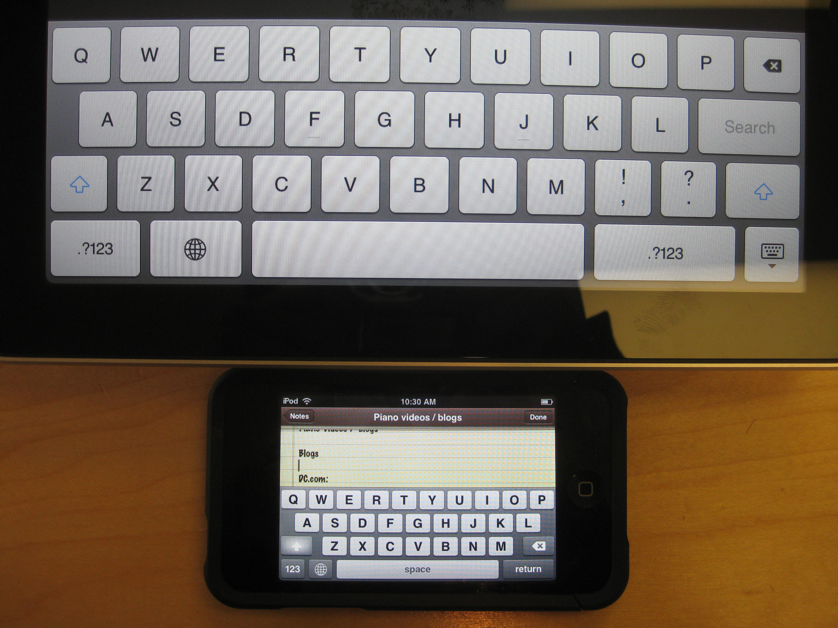 Ipad Comparison Chart: IPad - iPhone keyboard.jpg - Wikimedia Commons,Chart