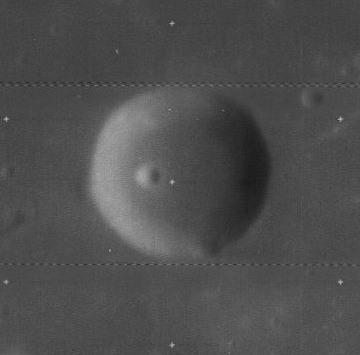 Ibn Battuta Crater on the Moon/Lunar Orbiter Image 1967
