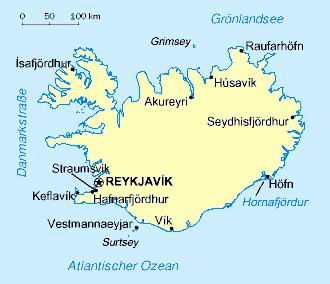 Karte Island Drucken.Liste Der Stadte In Island Wikipedia