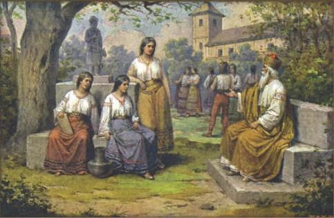 Josef Mathauser - Kníže Krok s dcerami (Kazi, Teta, Libuse)
