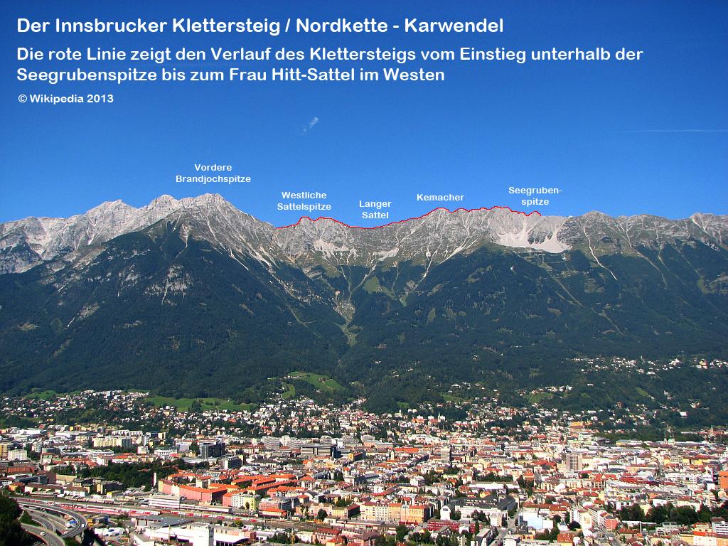 Klettersteig Innsbruck Nordkette : Datei klettersteig nordkette g u wikipedia