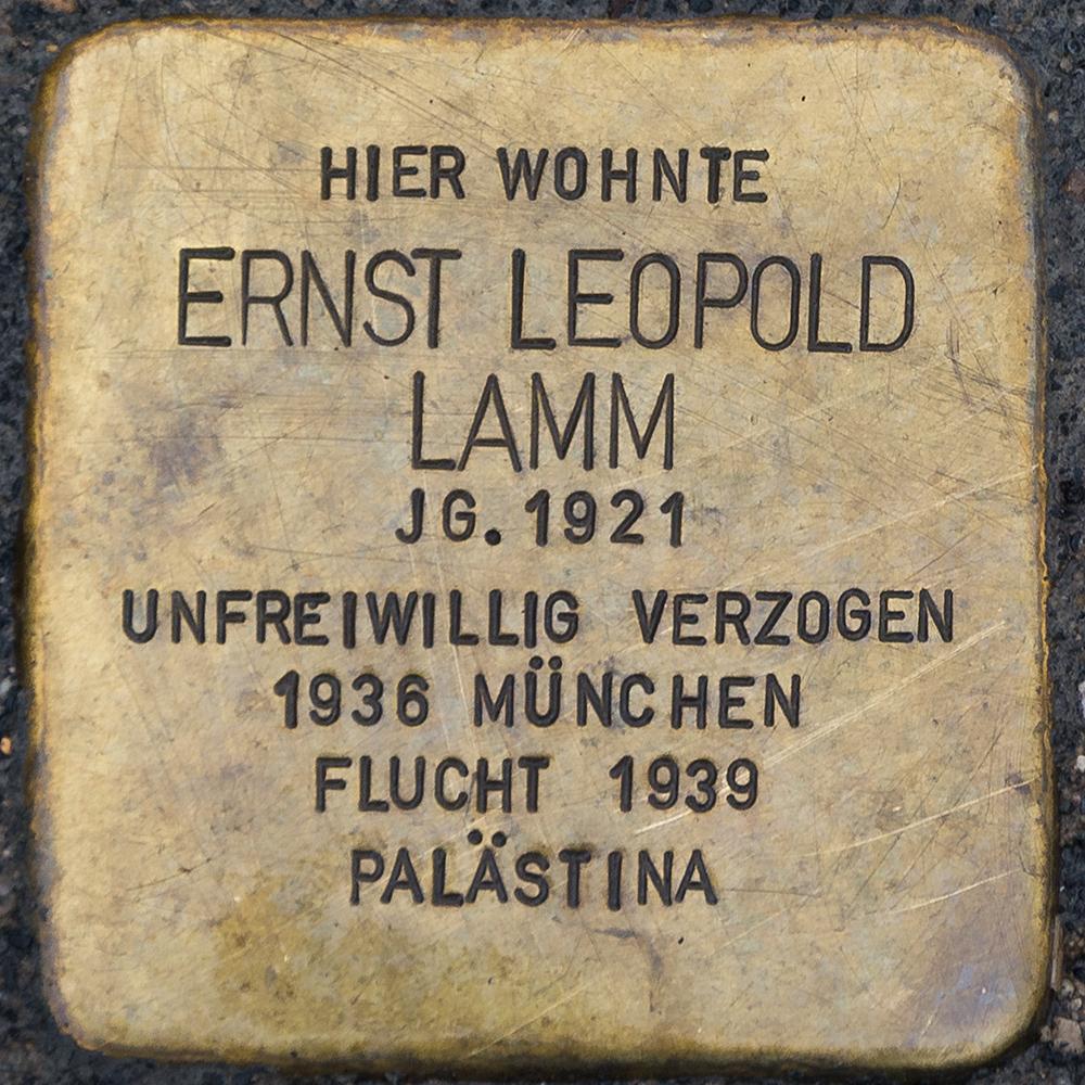 Kronach - Stolperstein Ernst Leopold Lamm (Kulmbacher Straße 21).jpg