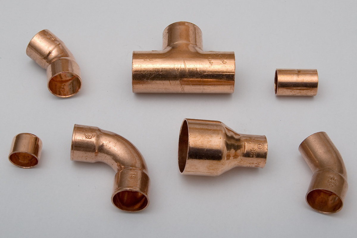 Piping and plumbing fitting wikipedia for Copper to plastic fittings