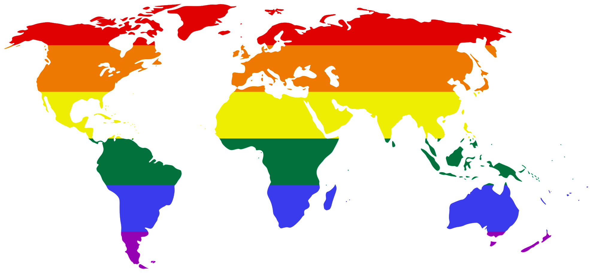 LGBT Flag map of the Worldpng