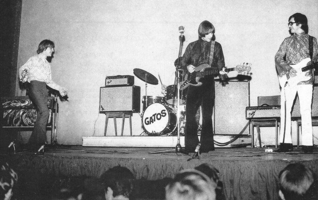Los Gatos tocando en vivo, circa 1968.