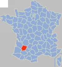 洛特-加龙省在法国的位置