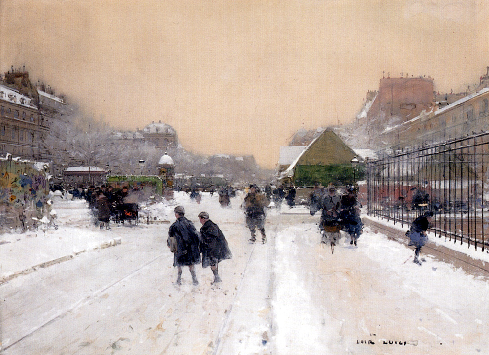 Fichier Luigi Loir Paris Sous La Neige Jpg Wikipedia