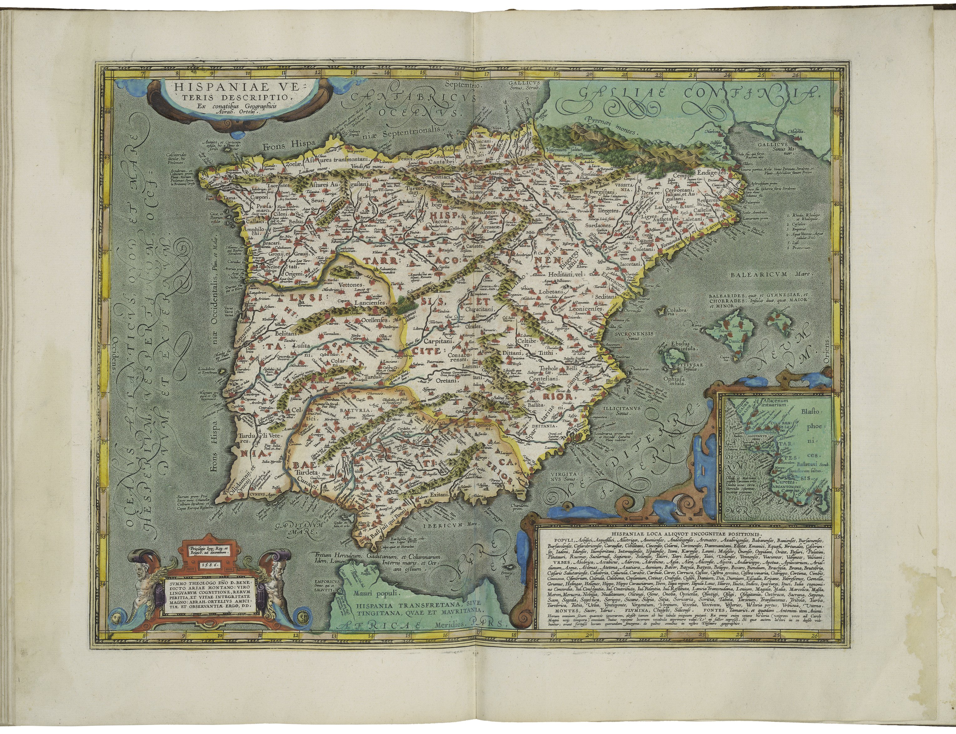 Map Of Spain Cadiz.File Map Of Spain And Inset Map Of Cadiz By Abraham Ortelius Jpeg