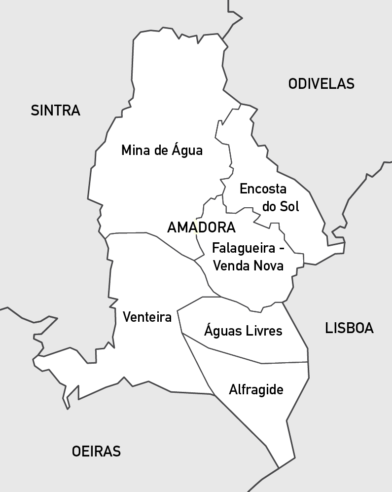 mapa amadora File:Map of the Freguesias of Amadora.png   Wikimedia Commons mapa amadora