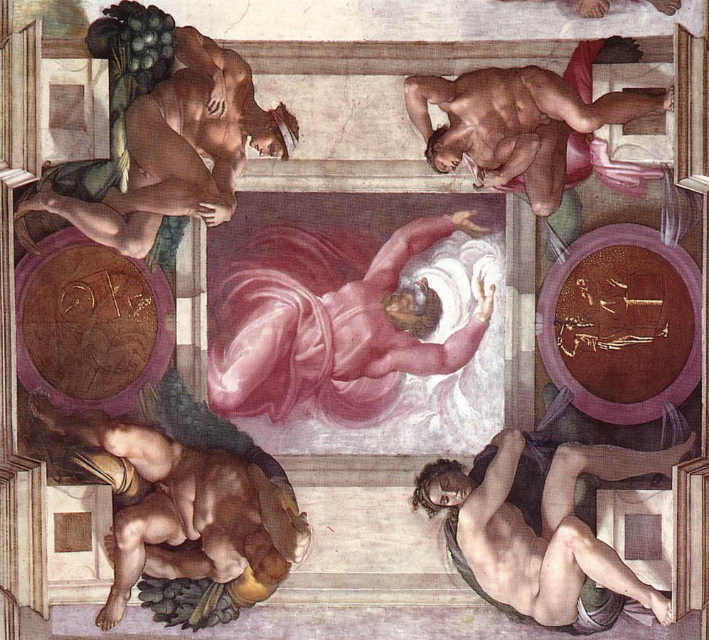 File michelangelo separation of light from darkness - Plafond de la chapelle sixtine description ...