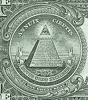 English: Novus Ordo Seculorum (1 US$) Illumina...