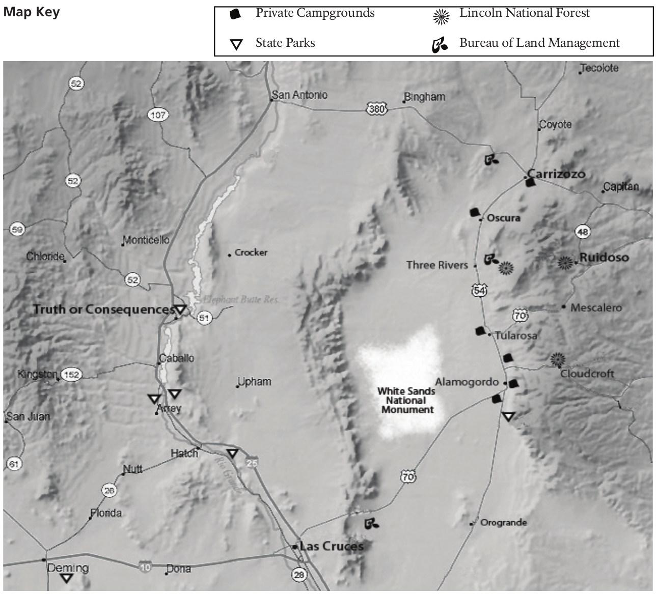 FileNPS Whitesandsareacampingmapjpg Wikimedia Commons - Us national monuments map