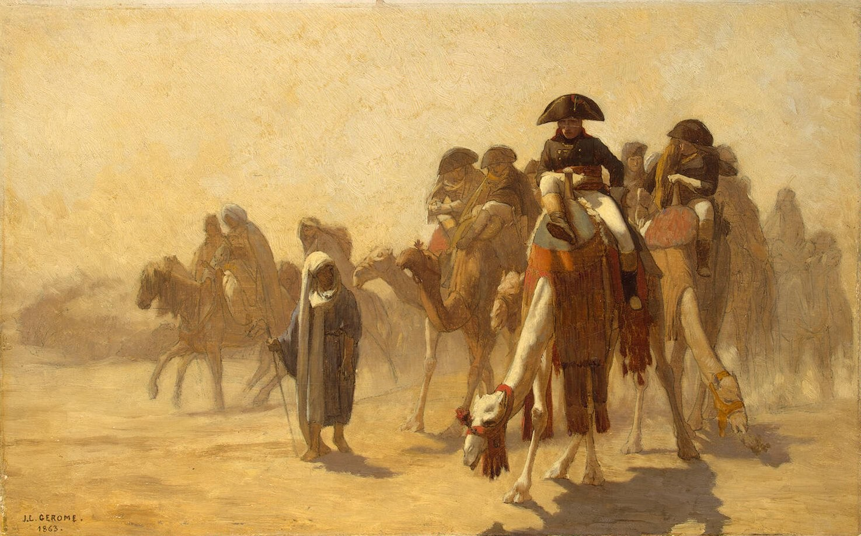 Napoleon during his campaign in Egypt.  Jean-Léon Gérôme (1824–1904).